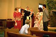 Family baptism in Presbyterian Church.  WesternSprings Illinois USA