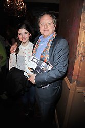 MICHAEL HOPPEN and his daughter PLUM at a party to celebrate the publication of her new book - Kelly Hoppen: Ideas, held at Beach Blanket Babylon, 45 Ledbury Road, London W11 on 4th April 2011.