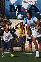 20120530: RIO DE JANEIRO, BRAZIL - Luis Figo 's project Dream Football presented in Brazil. Dream Football pretend to discover talented young football players. Brazilian singer Gabriel O Pensador is a Brazilian partner of the Porject<br /> PHOTO: CITYFILES