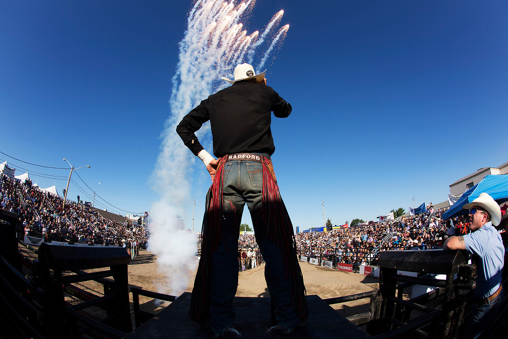 during the Ranchman's PBR event in Calgary, Alberta Wednesday, July 5, 2017. Todd Korol/The Globe and Mail