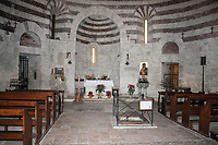 The chapel near the Gothic Abbey of Saint Galgano where is loceted the sword in stone