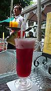 Singapore Sling drink, Raffles Hotel, Singapore, Malaysia