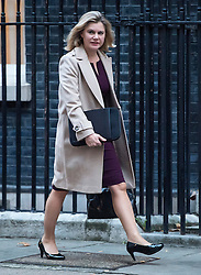 © Licensed to London News Pictures. 23/11/2016. London, UK. Secretary of State for Education JUSTINE GREENING arrives on Downing Street in London for a cabinet meeting before Chancellor Philip Hammond delivers his first Autumn statement to parliament. Photo credit: Ben Cawthra/LNP