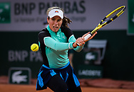 Johanna Konta of Great Britain in action against Cori Gauff of the United States during the first round at the Roland Garros 2020, Grand Slam tennis tournament, on September 27, 2020 at Roland Garros stadium in Paris, France - Photo Rob Prange / Spain ProSportsImages / DPPI / ProSportsImages / DPPI