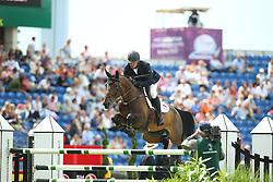 Tuganov Vladimir, (RUS), Sinfonie<br /> Team Competition round 1 and Individual Competition round 1<br /> FEI European Championships - Aachen 2015<br /> © Hippo Foto - Stefan Lafrentz<br /> 19/08/15