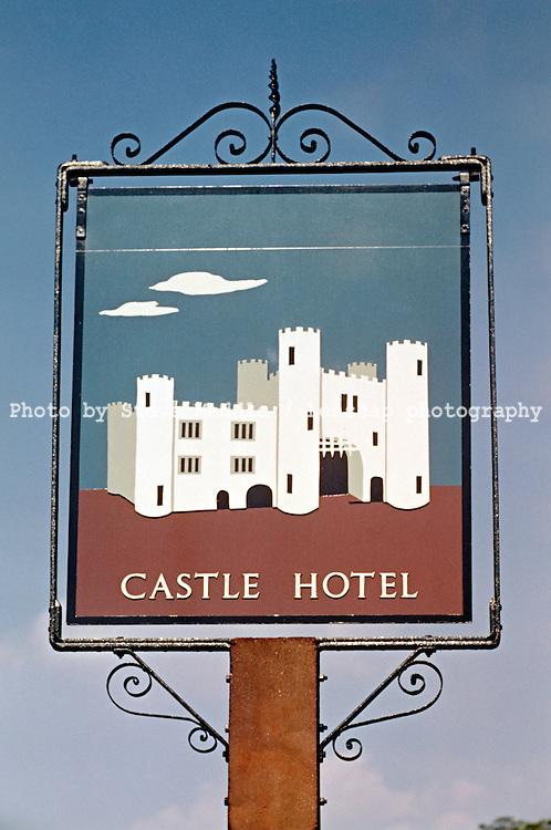 Pub Signs, The Castle Hotel, Tunbridge Wells, Kent, Britain