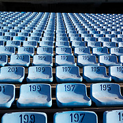 Seating at the famous Boca Juniors football stadium, La Bombonera, in La Boca region of Buenos Aires, Argentina, 25th June 2010. Photo Tim Clayton...