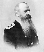 Stepan Osipovich Makarov or Makharoff (1849-1904)  In charge of Russian Pacific fleet at beginning of Russo-Japanese War (1904-1905).  Drowned when his flagship 'Petropavlosk' sank after hitting a mine .
