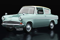 The Ford Anglia 123E Deluxe from 1962 is a strange car that will certainly make many people smile because this Ford Anglia 123E Deluxe was used in the Harry Potters movies as a flying car. Bring this Ford Anglia 123E Deluxe from 1962 into your shop or showroom and your customers will suddenly feel good and remember their childhood;<br /> <br /> This painting of a 1962 Ford Anglia 123E Deluxe can be printed very large on different materials.