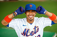 NY Mets Francisco Lindor poses for a portrait at Montverde Academy.<br /> <br /> ( Photo/Tom DiPace)