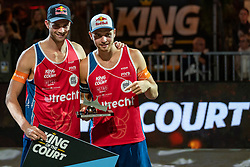 Christian Sørum NOO, Anders Mol NOO during the ceremony on the last day of the beach volleyball event King of the Court at Jaarbeursplein on September 12, 2020 in Utrecht.