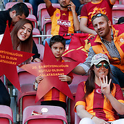 Galatasaray clinched the Turkish title for the 20th time. Galatasaray players celebrate with the Turkish Super League championship trophy at the AliSamiYen Spor Kompleksi TT Arena at Seyrantepe in Istanbul Turkey on Sunday, 31 May 2015. Photo by Kurtulus YILMAZ/TURKPIX