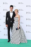 Novak Djokovic; Jelena Ristic, Novak Djokovic Foundation London gala dinner, The Roundhouse London UK, 08 July 2013, (Photo by Richard Goldschmidt)