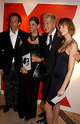 Kenneth Cole and Mario Testino with Caroline Williams and her mother Melanie Williams. Melanie Williams is in the book as she is HIV positive. Mario Testino, Bianca Jagger and Kenneth Cole celebrate Women to Women: Positively Speaking. - A publication to raise awareness of women living with Aids. The Orangery, Kensington Palace. 2 December 2004. ONE TIME USE ONLY - DO NOT ARCHIVE  © Copyright Photograph by Dafydd Jones 66 Stockwell Park Rd. London SW9 0DA Tel 020 7733 0108 www.dafjones.com