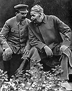 Stalin with Maxim Gorky