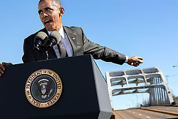 President Barack Obama delivers remarks during the event to commemorate the 50th Anniversary of Bloody Sunday and the Selma to Montgomery civil rights marches, at the Edmund Pettus Bridge in Selma, Ala., March 7, 2015. (Official White House Photo by Pete Souza)<br /> <br /> This official White House photograph is being made available only for publication by news organizations and/or for personal use printing by the subject(s) of the photograph. The photograph may not be manipulated in any way and may not be used in commercial or political materials, advertisements, emails, products, promotions that in any way suggests approval or endorsement of the President, the First Family, or the White House.