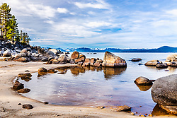 A winter day at Lake Tahoe's San Harbor.   In winter you can have this beautiful landscape to yourself