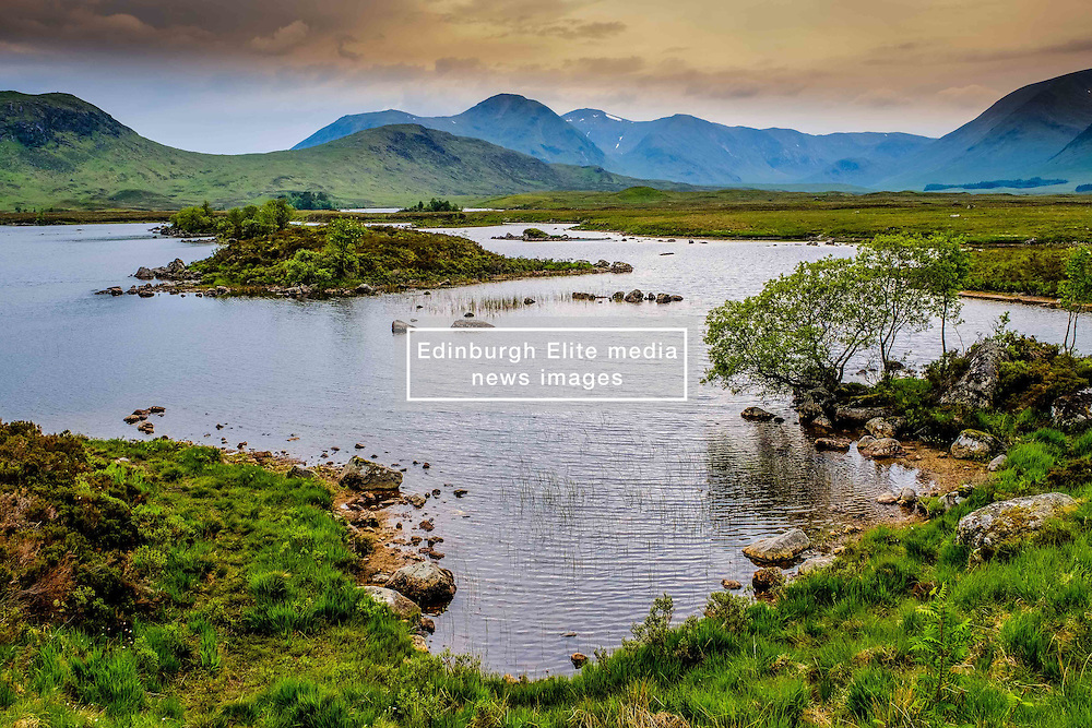 Storm clouds gather over Lochan na h -Achlaise on Rannoch Moor, Highlands of Scotland<br /> <br /> (c) Andrew Wilson   Edinburgh Elite media