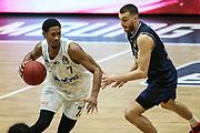 Basketball: Deutschland, 1. Bundesliga, Hamburg Towers - HAKRO Merlins Crailsheim, Hamburg, 10.01.2021<br /> Kameron Taylor (Towers, l.)<br /> © Torsten Helmke