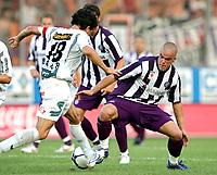 Fotball<br /> Østerrike 2006/2007<br /> Foto: Gepa/Digitalsport<br /> NORWAY ONLY<br /> <br /> 29.07.2007<br /> <br /> T-Mobile Bundesliga, Superfund Pasching vs FK Austria Magna Wien. Bild zeigt Michael Baur (Pasching) und Filip Sebo (A. Wien).