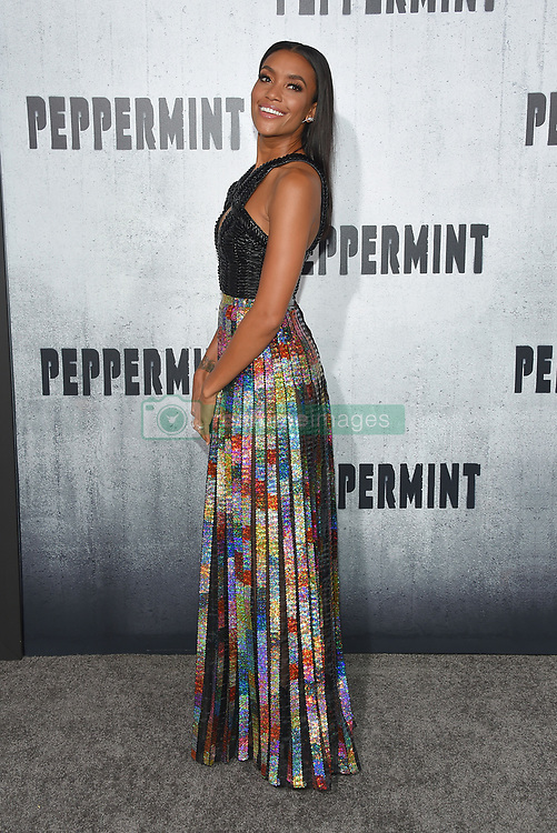 August 30, 2018 - Los Angeles, California, USA - 8/28/18.Annie Ilonzeh at the premiere of ''Peppermint'' held at the Regal Cinemas LA Live in Los Angeles, CA, USA. (Credit Image: © Starmax/Newscom via ZUMA Press)