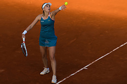 May 4, 2019 - Madrid, MADRID, SPAIN - Anett Kontaveit of Estonia in action during her first-round round match at the 2019 Mutua Madrid Open WTA Premier Mandatory tennis tournament (Credit Image: © AFP7 via ZUMA Wire)