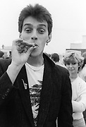 Kosmo Vinyl managing The Clash backstage.