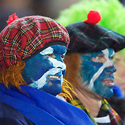 Scottish fans during the England V Scotland Pool B match during the IRB Rugby World Cup tournament. Eden Park, Auckland, New Zealand, 1st October 2011. Photo Tim Clayton...