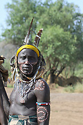 Portrait Of A Mursi Man, Mursi Tribal Village, The Omo Valley, Ethiopia