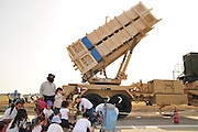 Israel, Tel Nof IAF Base, An Israeli Air force (IAF) exhibition Patriot anti aircraft missiles