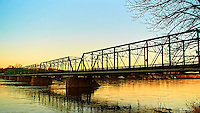 Early Morning View of the Lambertville and New Hope Bridge over the Delaware River. Image taken with a Nikon 1 V1 and 10-100 mm lens (ISO 100, 10 mm, f/4.5, 1/125 sec).