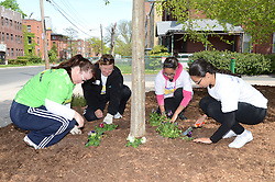 L to R: Melissa Bartlett, Lori Fretz, Lisa Santana and Ana Santana - Asylum Hill Boys and Girls Club, Hartford CT