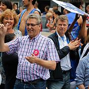 NLD/Amsterdam/20120804 - Canalparade tijdens de Gaypride 2012, Henk Krol, Boris Dittrich en Wim van de Camp