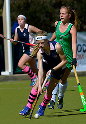 Kayla de Waal of Herschel during day one of the FNB Private Wealth Super 12 Hockey Tournament held at Oranje Meisieskool in Bloemfontein, South Africa on the 6th August 2016<br /> <br /> Photo by:   Frikkie Kapp / Real Time Images