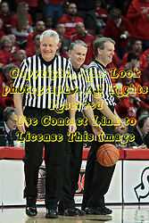 22 January 2014:  Thomas Eades, Mike Stuart, Randy Heimerman during an NCAA Missouri Valley Conference mens basketball game between the Shockers of Wichita Stat and the Illinois State Redbirds  in Redbird Arena, Normal IL.