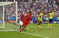 Football - 2018 FIFA World Cup WM Weltmeisterschaft Fussball - Quarter-Final: Sweden vs. England Harry Maguire of England celebrates after he scores at the Cosmos Arena, Samara.