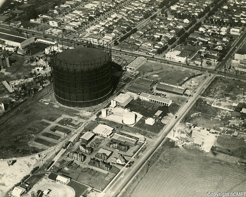 1924 Aerial of Santa Monica Blvd. & La Brea Ave.