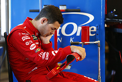 June 23, 2017 - Sonoma, CA, United States of America - June 23, 2017 - Sonoma, CA, USA: Kyle Larson (42) hangs out in the garage during practice for the Toyota/Save Mart 350 at Sonoma Raceway in Sonoma, CA. (Credit Image: © Justin R. Noe Asp Inc/ASP via ZUMA Wire)