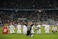 Fotball<br /> Tyskland<br /> Foto: Witters/Digitalsport<br /> NORWAY ONLY<br /> <br /> 10.03.2009<br /> <br /> Schlussjubel mit Hans Joerg Butt FCB<br /> <br /> Champions League Achtelfinale Bayern München - Sporting Lisboa 7:1