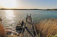 Pier, Mecox Bay, Summer Home of Cliff Robertson,  36 Morrison Lane, Water Mill, Long Island, New York