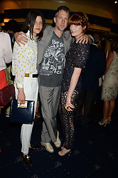 Left to right, TATIANA COTLIAR, JEFFERSON HACK and FLORENCE WELCH at the Hoping Foundation's 'Rock On' Benefit Evening for Palestinian refuge children held at the Cafe de Paris, London on 20th June 2013.