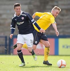 Raith Rovers Joe Cardle and Falkirk's Craig Sibbald..Raith Rovers 0 v 0 Falkirk, 27/4/2013..© Michael Schofield.
