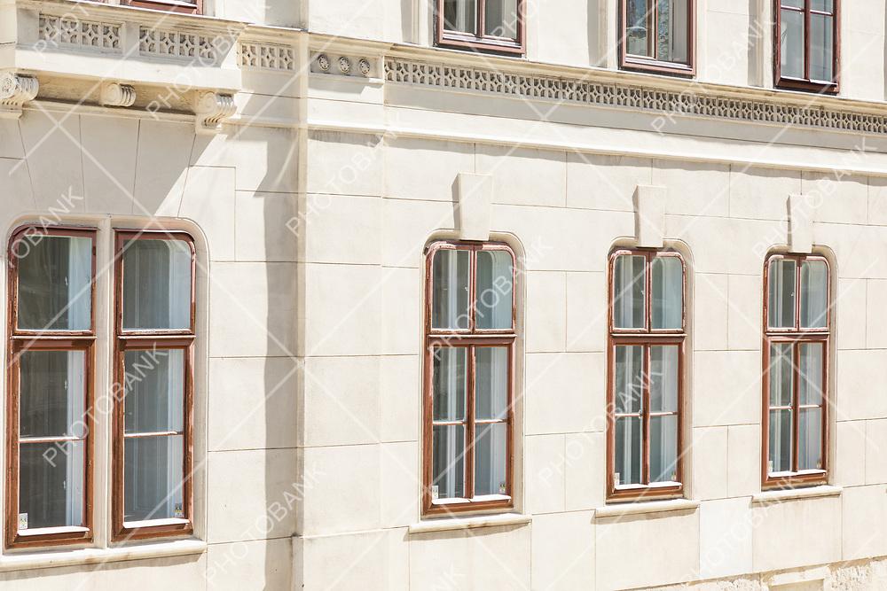 Closeup old building in Wien