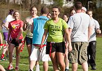 Powder Puff football at Laconia High School May 6, 2011.