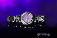 Purple wrist watch
