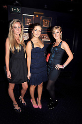 Left to right, JEMIMA CADBURY, the HON.PHILIPPA CADOGAN and CLEMENTINE MALIN at the Tatler Magazine Little Black Book party at Tramp, 40 Jermyn Street, London SW1 on 5th November 2008.
