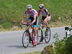 06.07.2015, Litschau, AUT, Österreich Radrundfahrt, 2. Etappe, Litschau nach Grieskirchen, im Bild v.l. Matthias Krizek (AUT, Team Felbermayr Simplon) Michael Taferner (AUt, WSA-Greenlife) // f.l.t.r. Matthias Krizek of Austria and Michael Taferner of Austria during the Tour of Austria, 2nd Stage, from Litschau to Grieskirchens, Litschau, Austria on 2015/07/06. EXPA Pictures © 2015, PhotoCredit: EXPA/ Reinhard Eisenbauer