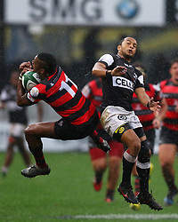 Rhyno Smith of the Sharks andSampie Mastriet of the EP Kings during the Currie Cup premier division match between the The Sharks and Eastern Province Kings held at King's Park, Durban, South Africa on the 17th September 2016<br /> <br /> Photo by:   Anesh Debiky / Real Time Images