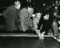 1937 Clark Gable's ceremony at the Chinese Theatre, Sid Grauman at left