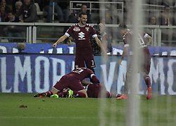 March 18, 2017 - Turin, Italy - Torino team in action during the Serie A match between FC Torino and FC Internazionale at Stadio Olimpico di Torino on March 18, 2017 in Turin, Italy. (Credit Image: © Loris Roselli/NurPhoto via ZUMA Press)